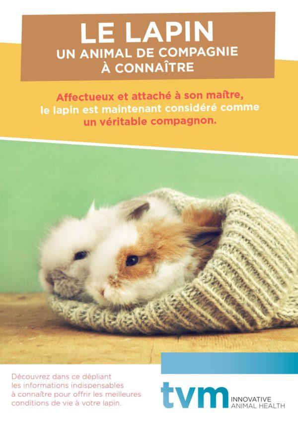 Dépliant Le lapin, un animal de compagnie à connaître (unité : paquet de 25 ex) 1