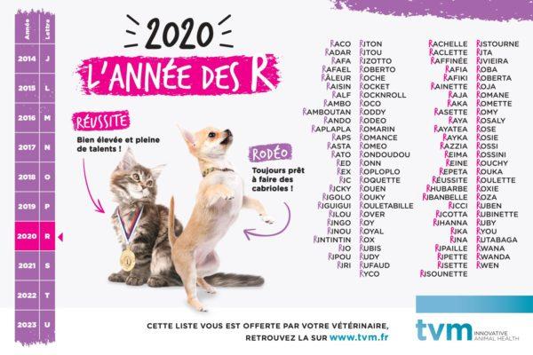 Bloc liste des noms 2020 (unité : paquet de 100 feuillets) 1