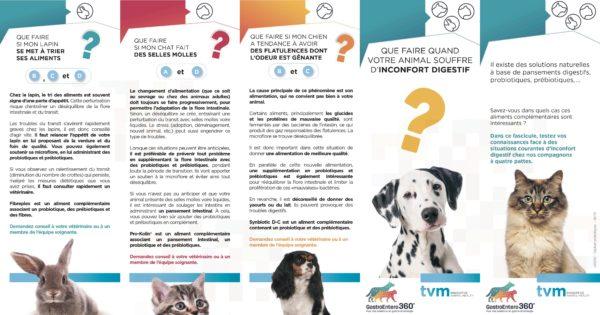 Dépliant Que faire mon animal souffre de troubles digestifs ? (unité : paquet de 10 ex) 1