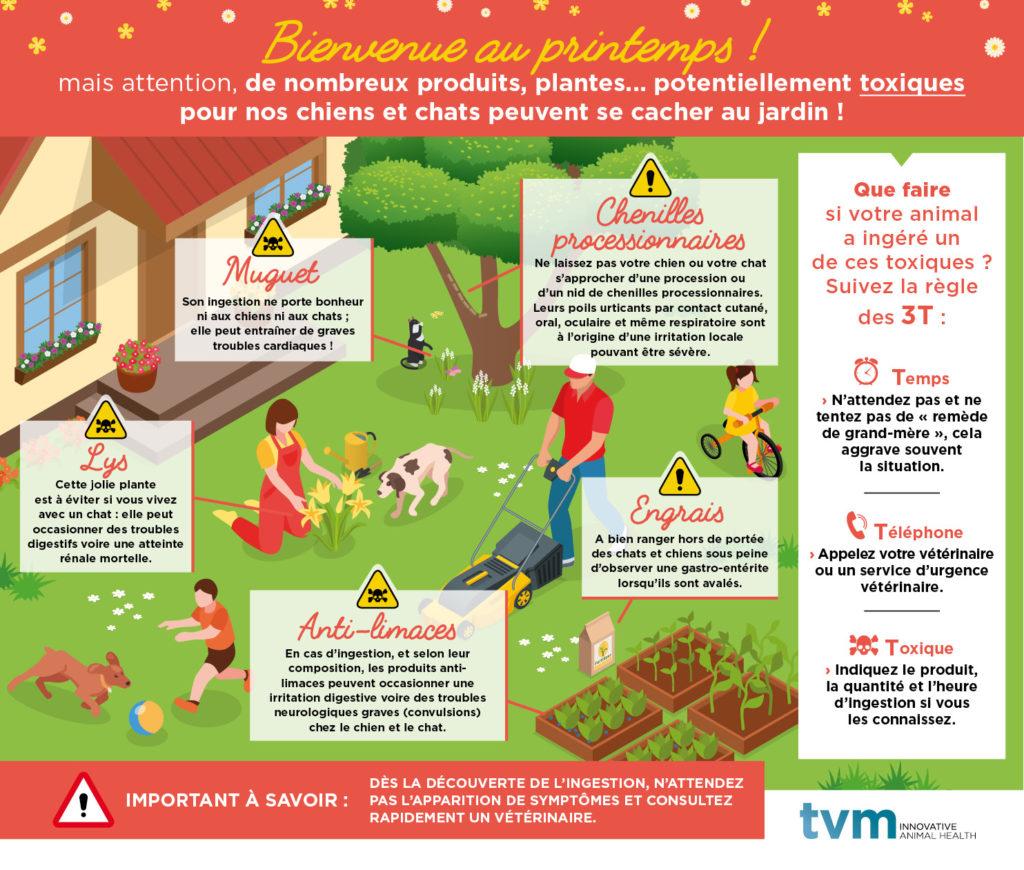 Produits et plantes toxiques dans le jardin pour animaux de compagnie